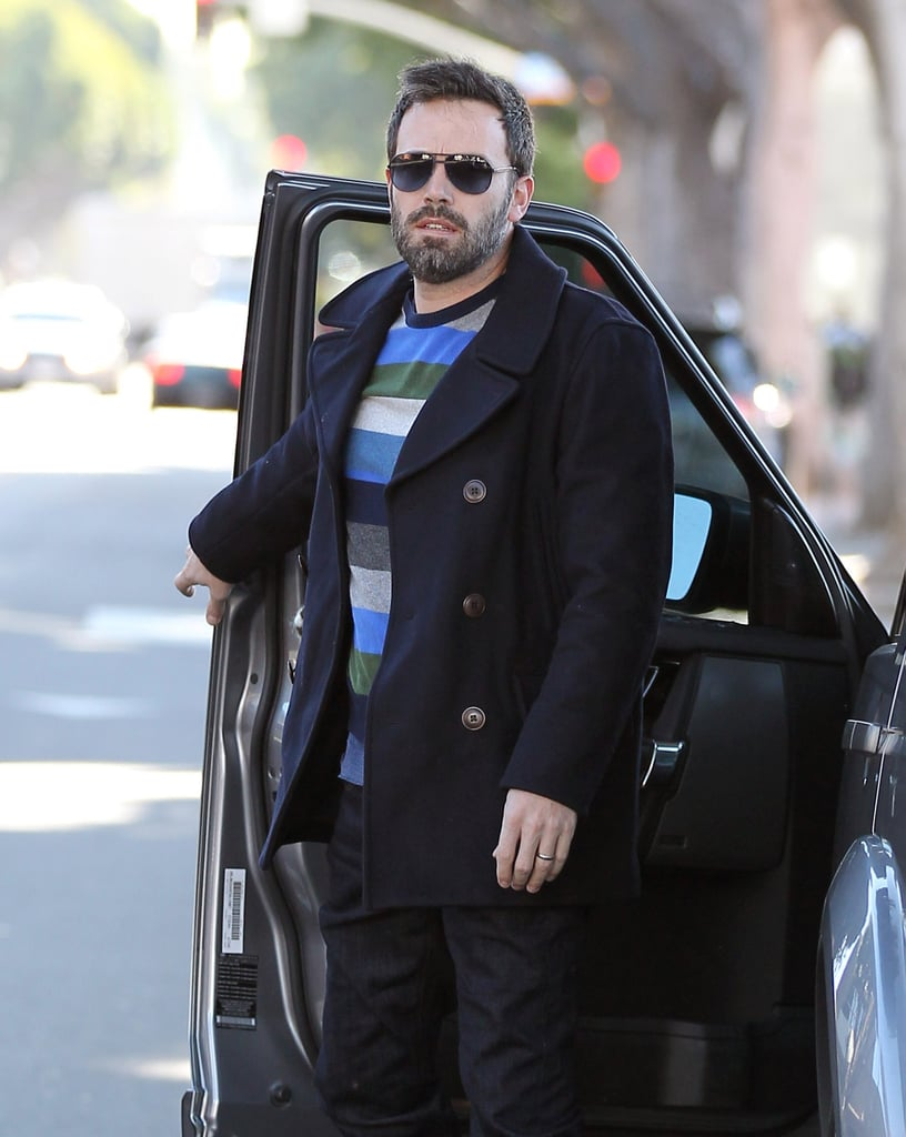 Ben Affleck arrived at the ice skating rink with his family in LA.