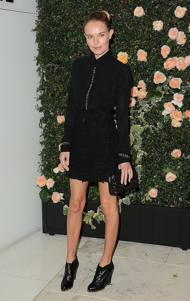 Kate Bosworth wore a chic Chanel dress at the brand's boutique party in LA in October 2011.