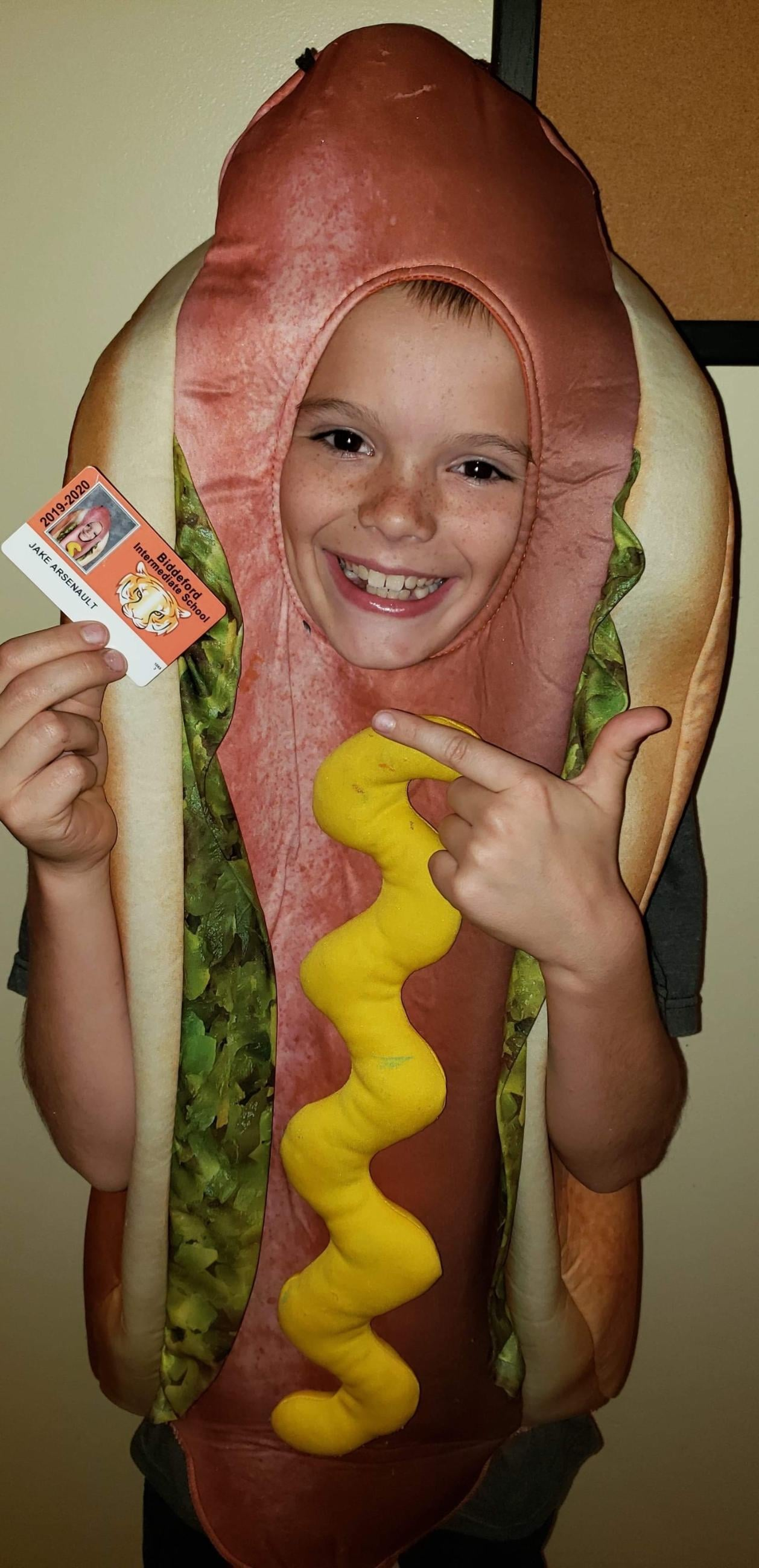 Yup, This 9-Year-Old Boy Took His School Pictures Dressed as a Hot Dog, Mustard and All