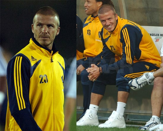 Beckham Makes Benchwarming Look Good