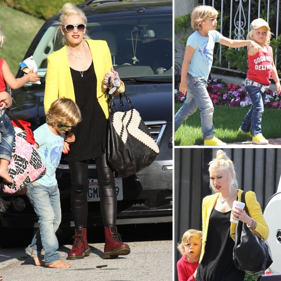 Gwen Stefani Has a Bright Weekend With Zuma and Kingston