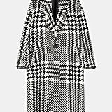 Zara Oversized Checked Coat