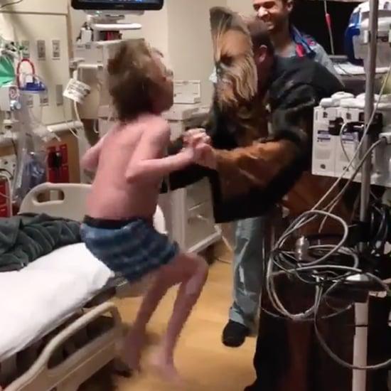 Children's Doctor Surprises Patient in Chewbacca Costume