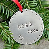 Stamped Name and Year Ornament