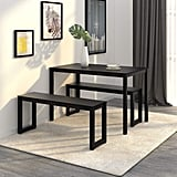 WLIVE Dining Table with 2 Benches