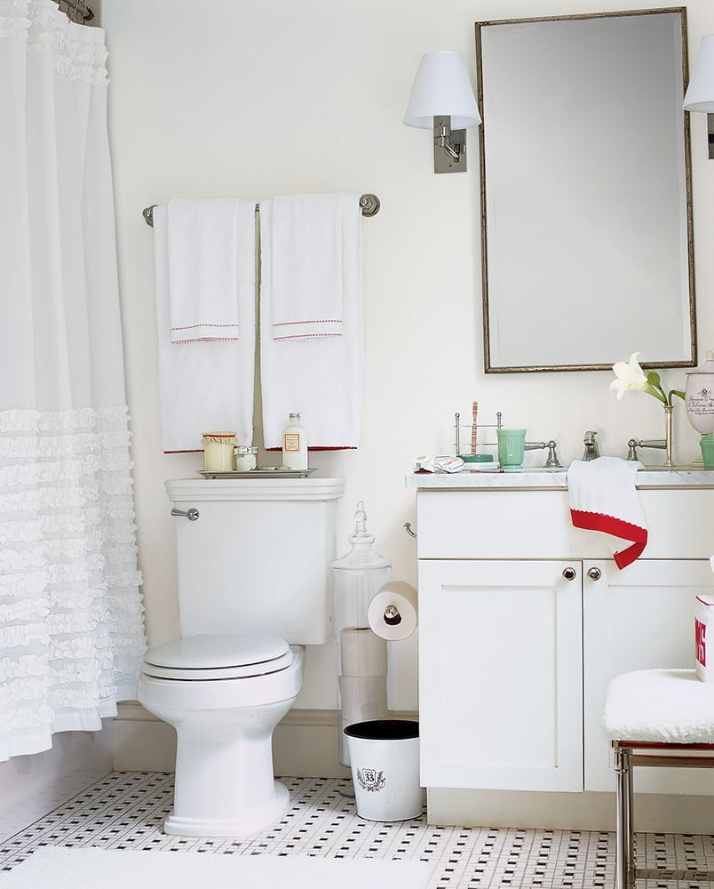 Make small bathroom look bigger - Share This Link Copy Banish Bathroom Claustrophobia