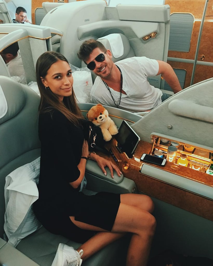 Robin Thicke Visits Dubai With Girlfriend April Love Geary