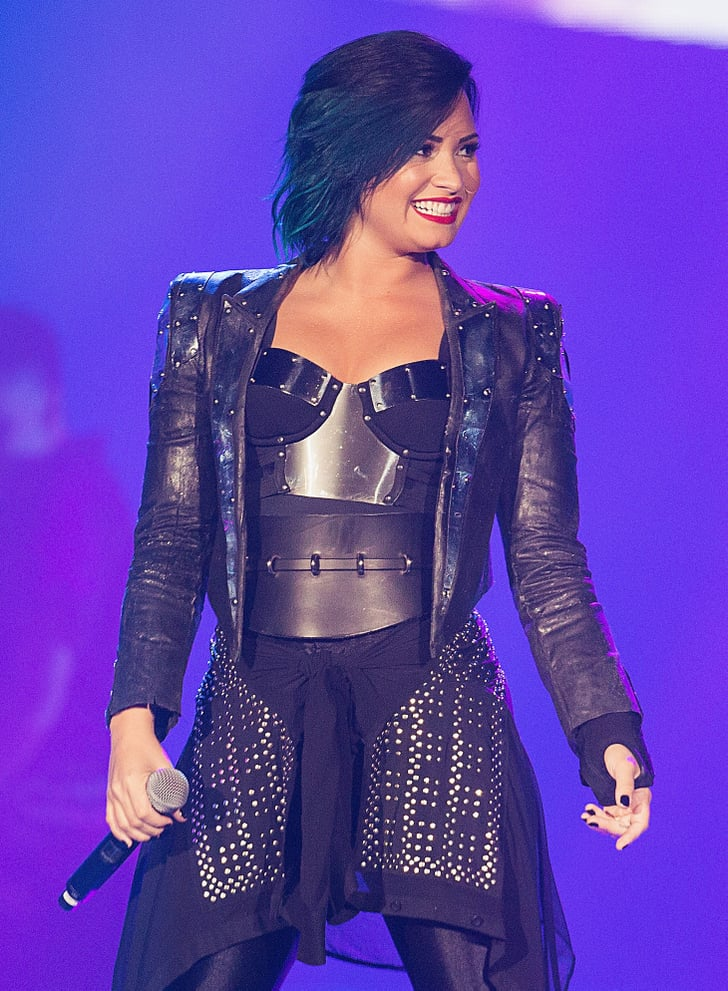 Demi Lovato Ditched Brunette Hair For a Teal-Blue Hue