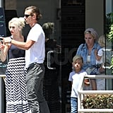 Gwen Stefani and Gavin Rossdale with sons Kingston and Zuma.