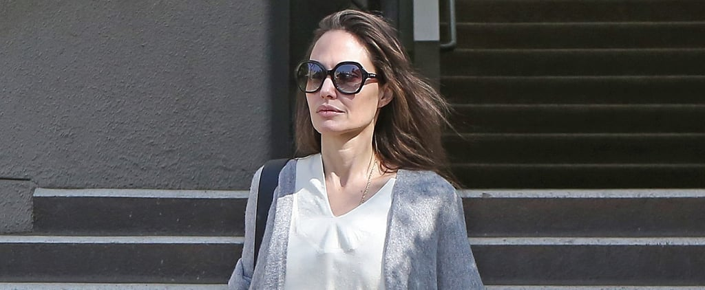 "Angelina Jolie's Daytime Dress Is the Kind You Throw On and Say, ""Done, I Look Good"""