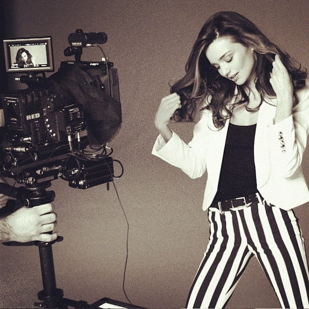 Behind the scenes of a Miranda Kerr photo shoot. Source: Instagram user mirandakerrverified