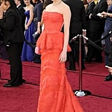 Michelle Williams's Oscars gown featured a peplum.