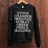 Harry Potter Sweatshirt ($45)