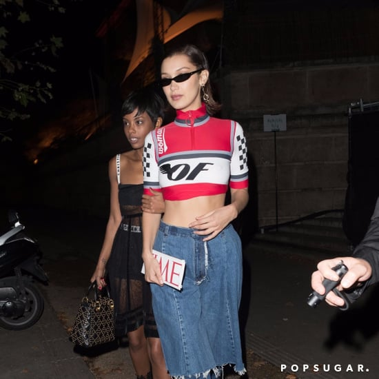 Bella Hadid Wearing Ksenia Schnaider Jeans