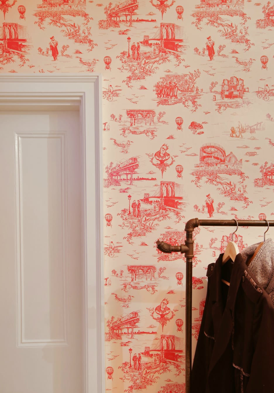 Mike Custom Designed The Brooklyn Themed Toile Wallpaper