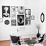 Slytherins are ambitious and know exactly what they want, which means they each need a commanding office space. This room's black-and-white scheme is perfect for making a fierce impression!  via The Evergirl