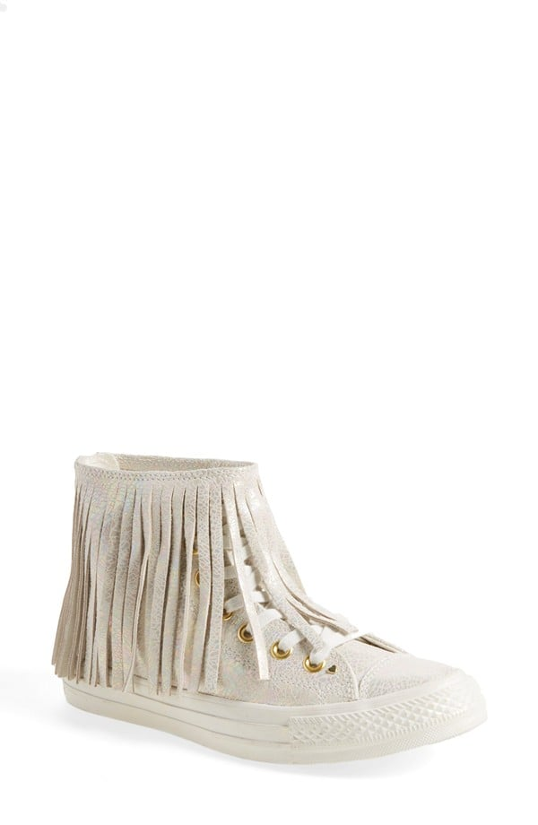 Converse Chuck Taylor ® All Star ® 'Oil Slick' Fringe Leather High Top Sneaker (Women) ($115)
