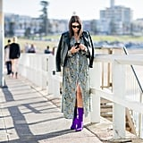 Pair a Flirty Frock With Colorful Boots