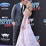 The couple looked like prom king and queen at the LA premiere of Guardians of the Galaxy Vol. 2 in April 2017.