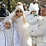 Diana Ross and Family at the Macy's Thanksgiving Parade 2018