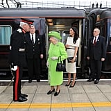 Meghan Markle at the Train Station 2018