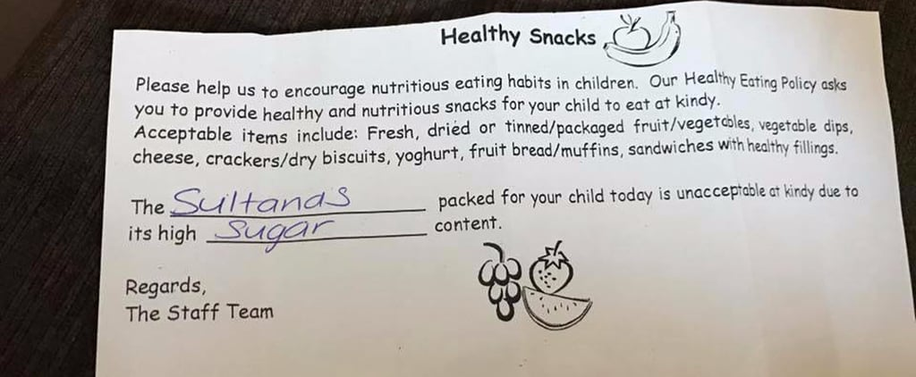 "This Kindergarten Shamed 1 Mom For Her ""Unacceptable"" Snack: Raisins"
