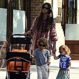 Camila Alves held Vida's hand while Levi walked ahead on a stroll around NYC.