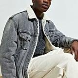 Levi's Grey Vintage Fit Sherpa Trucker Jacket