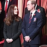 Kate Middleton and Prince William on Remembrance Day 2016