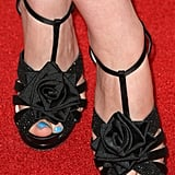 Ginnifer's rose-adorned Nicholas Kirkwood sandals added a girlie touch to her evening style.