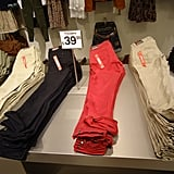 Cheap, cheap! Coloured chinos from $39.95.