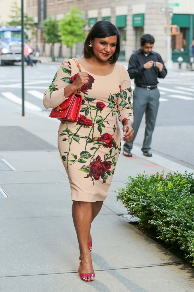 Looking ultra ladylike in Dolce & Gabbana while out in NYC in 2015.