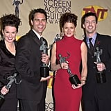 Megan Mullally, Eric McCormack, Debra Messing, and Sean Hayes; 2001 SAG Awards