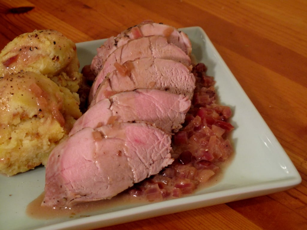 Photo Gallery: Peppered Pork Tenderloin With Coconut Cranberry Sauce