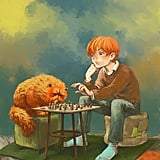 Ron and Crookshanks