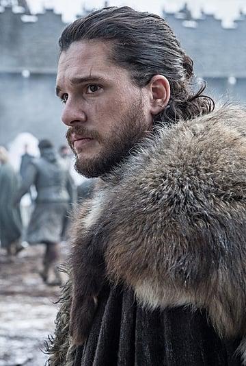 Jon Snow's Man Bun on Game of Thrones Season 8