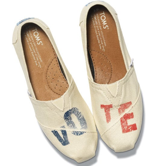 We couldn't resist including these guys again — you may remember us waxing poetic about them just a couple of weeks ago? — because we're pretty sure we've got a lot of TOMS slipon fans and the cool Vote 2012 screenprint ($58) isn't over the top.