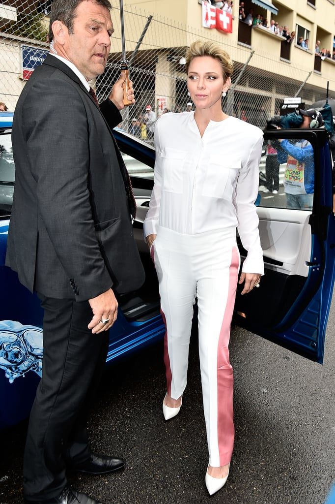 For the F1 Grand Prix of Monaco in 2016, Charlene wore a pair of statement pants.