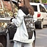 Bella Hadid Denim Jacket November 2016