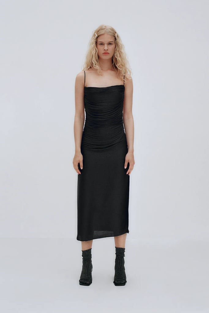 For a Night Out: Draped Midi Dress