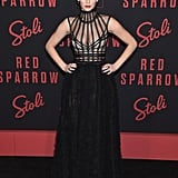 Jennifer Lawrence Dior Dress Red Sparrow New York Premiere