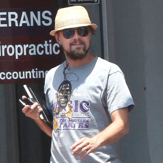Leonardo DiCaprio in LA Lakers Shirt in New Orleans Pictures