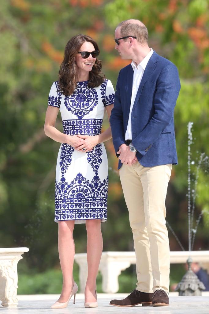 Kate Middleton's Naeem Khan Dress at the Taj Mahal 2016