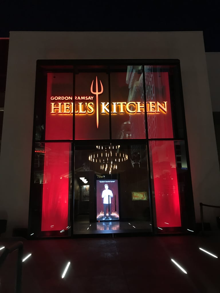 The entrance of Hell's Kitchen is iconic.