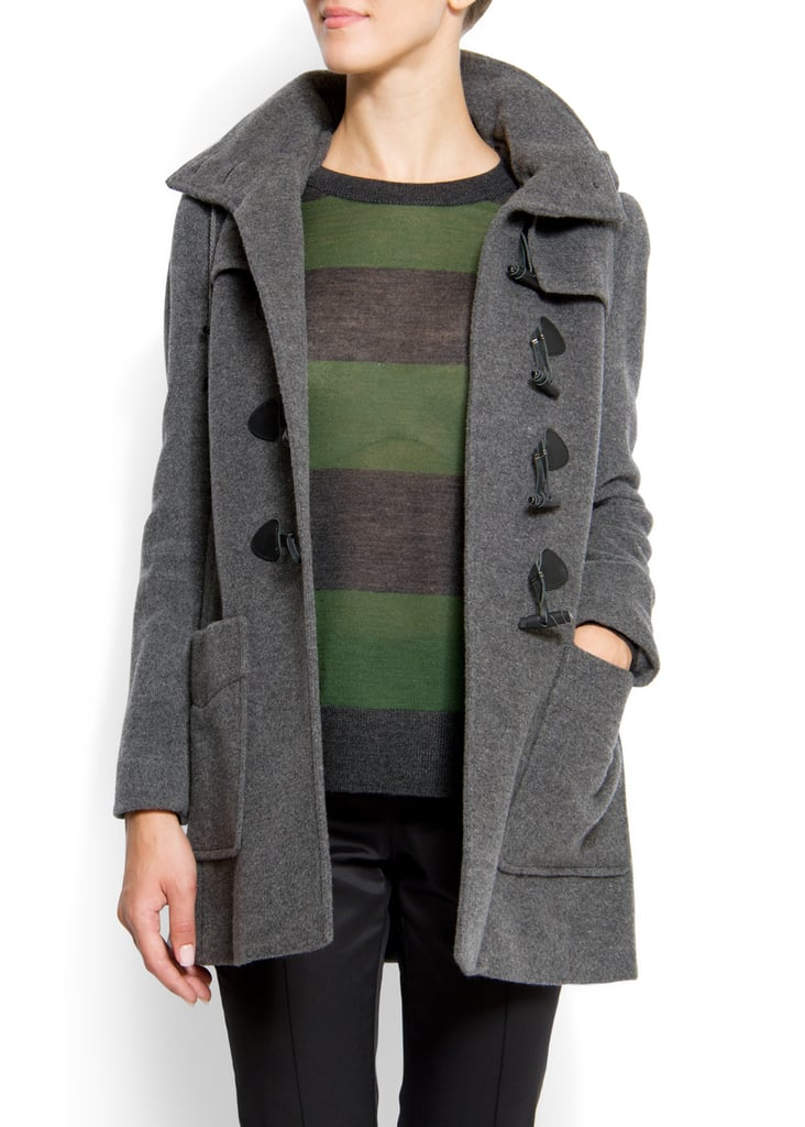 This Mango Duffle Coat ($65, originally $200) comes in the perfect smoky gray hue — and we love the deep pockets.