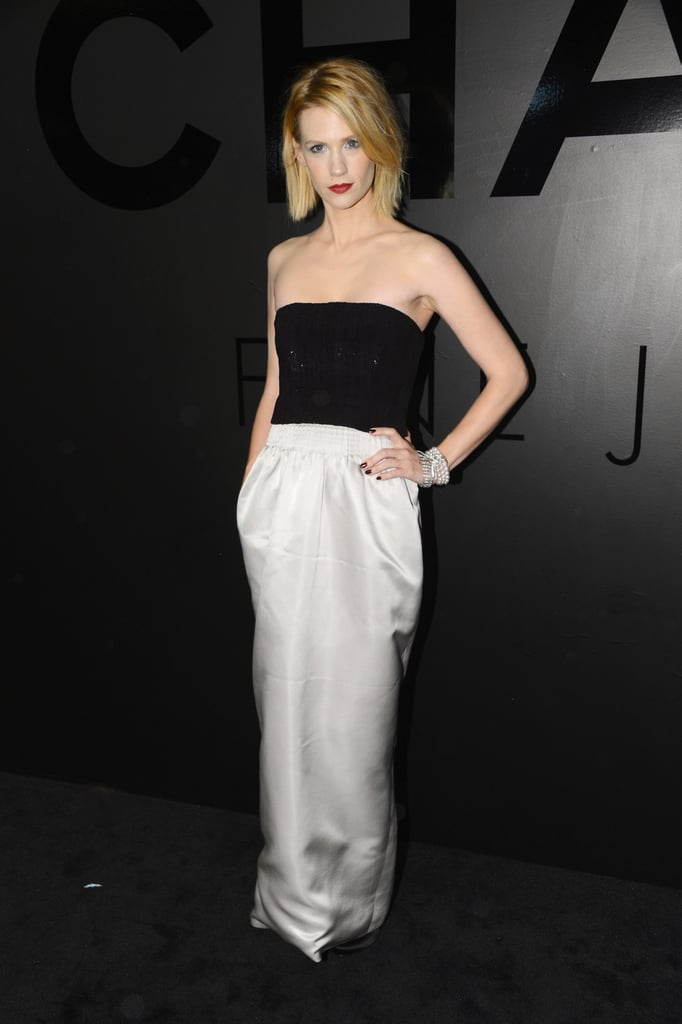 "January Jones attended Chanel's celebration of the 80th Anniversary Of The ""Bijoux De Diamants"" Collection."