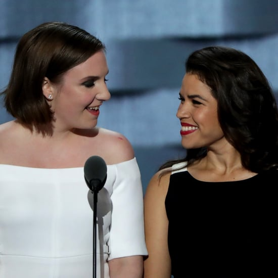 Lena Dunham and America Ferrera at the DNC 2016