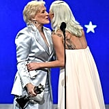 Pictured: Glenn Close and Lady Gaga