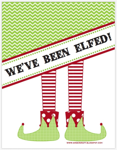 picture relating to You've Been Elfed Free Printable identify Printable \