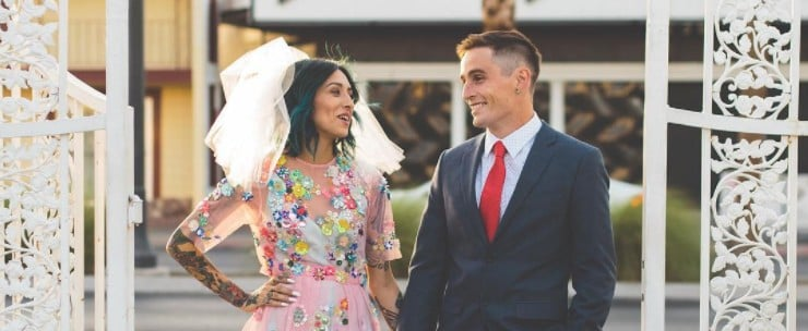 These Beautiful Brides Were Tickled Pink on Their Big Days